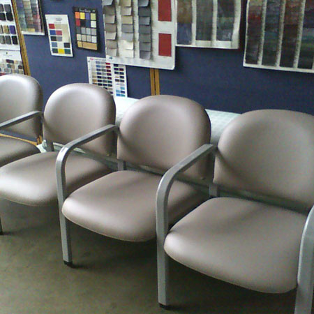 Richards upholstery Tumwater WA commercial portfolio image1: gray waiting room chairs